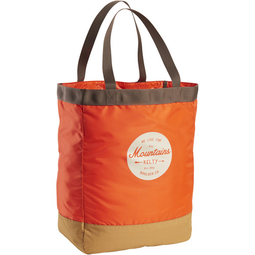 Kelty TOTES 30L Tote (Fire Orange/Canyon Brown)
