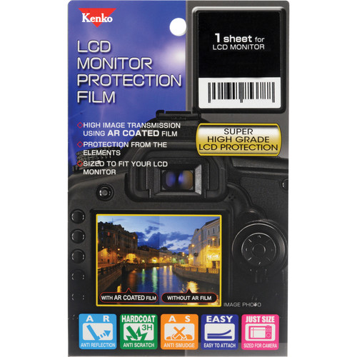 Kenko LCD Monitor Protection Film for the Nikon D3400, 3300, or 3200 Camera