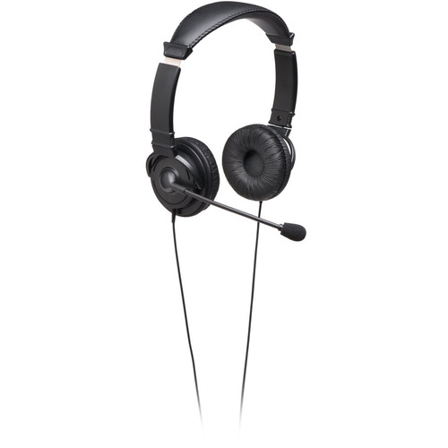 Kensington Hi-Fi Wired Headphones with Mic (Black)