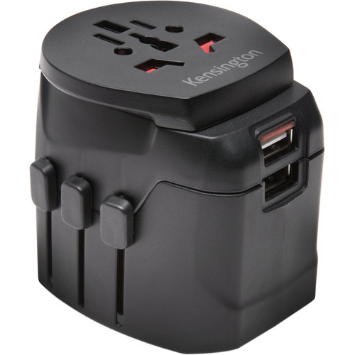 Kensington Grounded International Travel Adapter with Dual USB Ports
