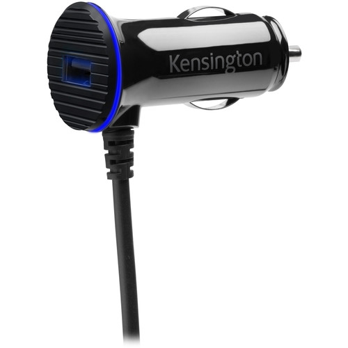 Kensington PowerBolt 3.4 Dual Fast Charge Car Charger with Lightning Cable