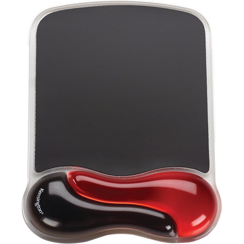 Kensington Duo Gel Mousepad Wrist Rest (Red and Black)