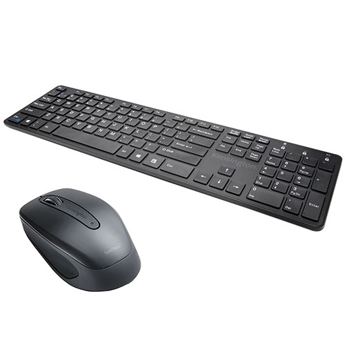 Kensington KP400 Bluetooth Switchable Keyboard & Suretrack Any Surface Bluetooth Mouse Kit