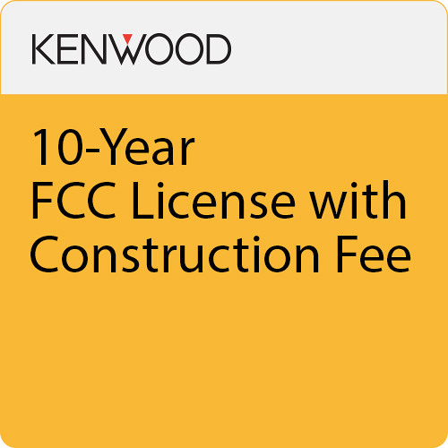 Kenwood 10-Year FCC License with Construction Fee for NXR-710MPSD/810MPSD Repeater