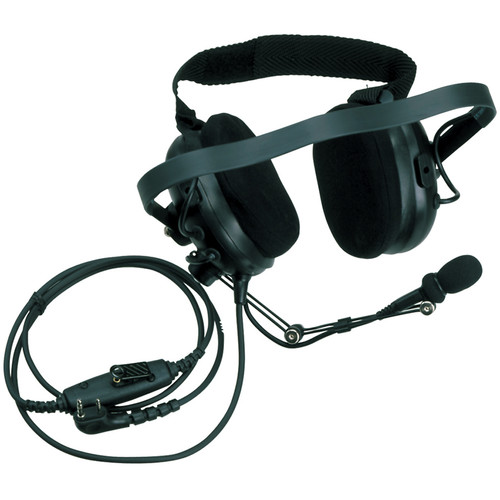 Kenwood KHS-10D-OH Noise-Reduction Headset with In-Line PTT (Black, Over-the-Head)