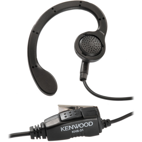 Kenwood KHS-31 C-Ring Ear Hanger with Push to Talk and Microphone