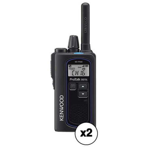 Kenwood ProTalk Digital NX-P500 6-Channel UHF 2-Way Business Radio Kit (Pair)