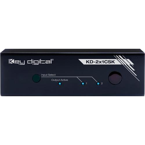 Key-Digital KD-2x1CSK Champion Series 2x1 DCI/UHD 4K HDMI Switcher