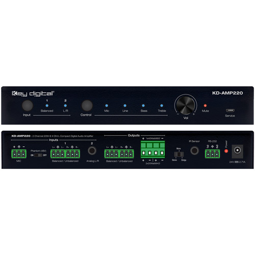 Key Digital KD-AMP220 2-Channel Compact Digital Amplifier