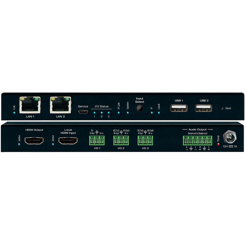 Key Digital 4K Enterprise AV over IP Decoder with Independent Video, Audio, KVM/USB Routing & Audio De-Embedding