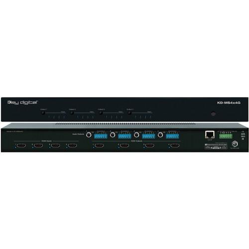 Key Digital KD-MS4X4G HDMI Matrix Switcher