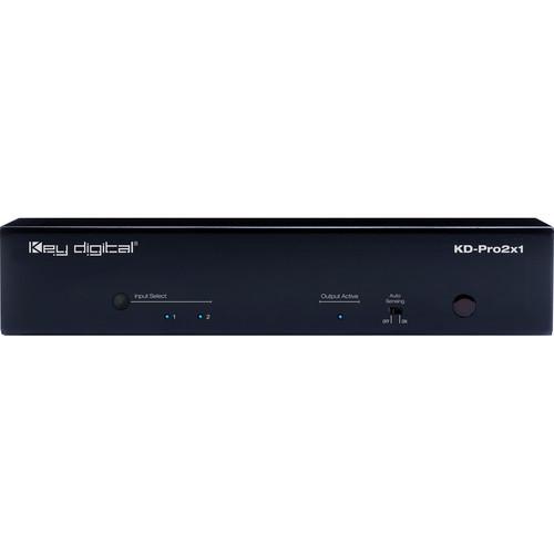 Key Digital 2x1 HDMI Switcher with Audio De-Embedding (Black)