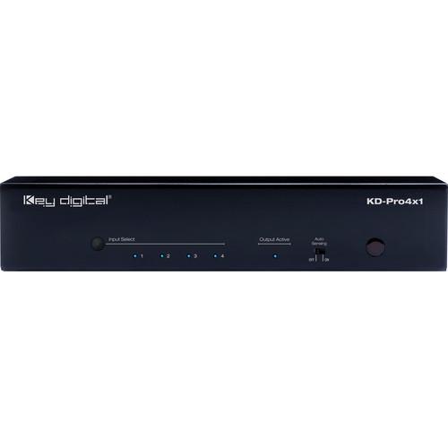 Key-Digital 4x1 HDMI Switcher with Audio De-Embedding (Black)