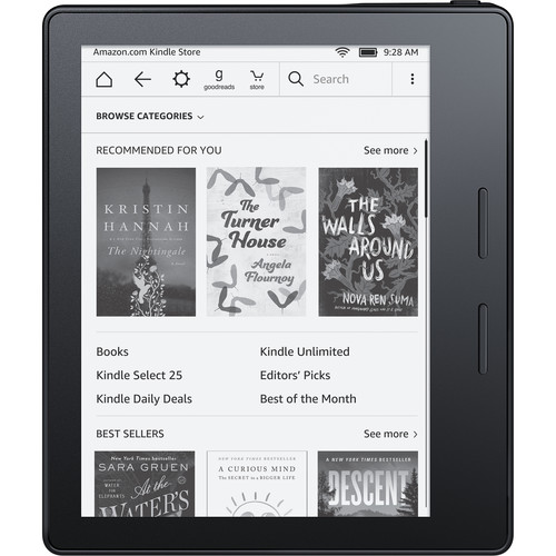 """Kindle Oasis 6"""" eReader (Black, Wi-Fi Only)"""