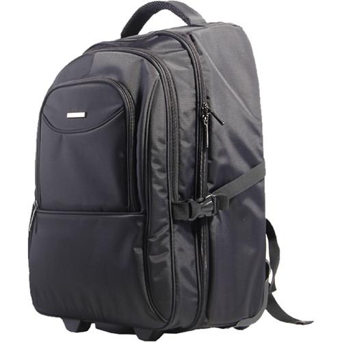 "Kingsons 15.6"" Prime Trolley Bag Backpack (Black)"