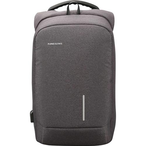 """Kingsons 15.6"""" Smart Backpack (Dark Gray)"""