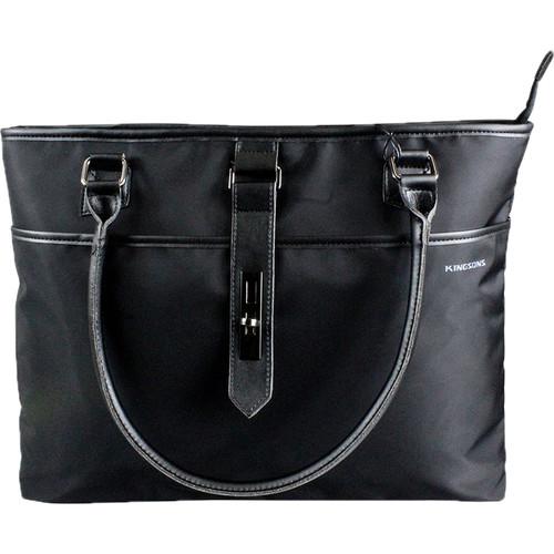 """Kingsons 15.6"""" Bella Series Ladies Laptop Shoulder Bag (Black)"""