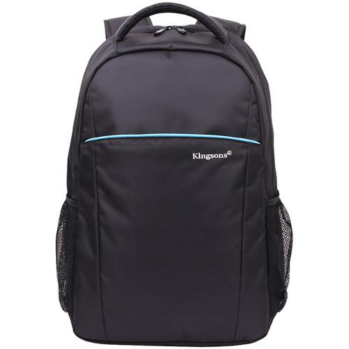 """Kingsons 16.1""""Blue Stripe Laptop Backpack (Black)"""