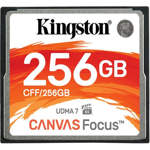 Kingston 256GB Canvas Focus CompactFlash Memory Card