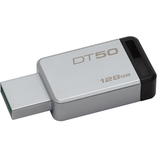 Kingston 128GB Datatraveler DT50 USB 3.0 Flash Drive (Black)