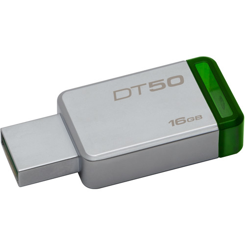 Kingston 16GB Datatraveler DT50 USB 3.1 Gen 1 Flash Drive (Green)