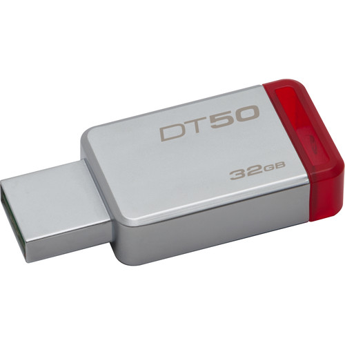 Kingston 32GB Datatraveler DT50 USB 3.0 Flash Drive (Red)