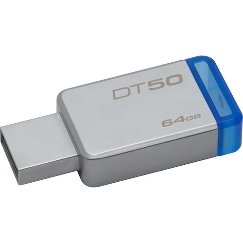 Kingston 64GB Datatraveler DT50 USB 3.0 Flash Drive (Blue)