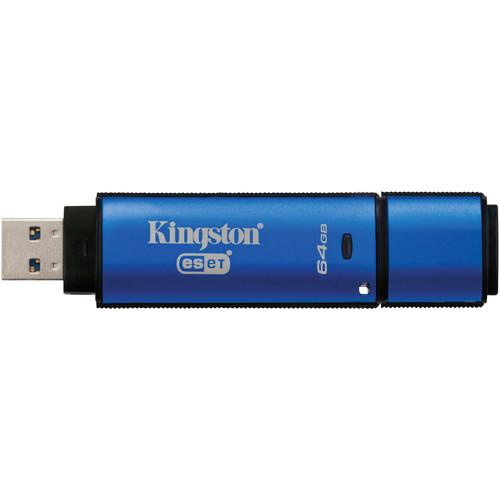 Kingston 64GB DataTraveler Vault Privacy 3.0 USB Flash Drive with Anti-Virus