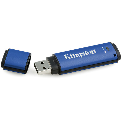 Kingston DataTraveler Vault Privacy 3.0 USB Flash Drive with SafeConsole Management (4GB)