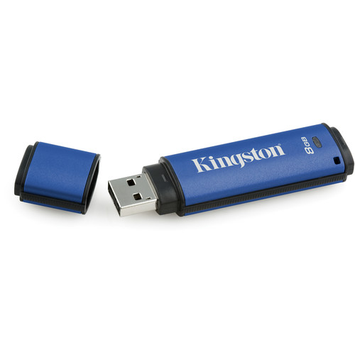 Kingston DataTraveler Vault Privacy 3.0 USB Flash Drive with SafeConsole Management (8GB)
