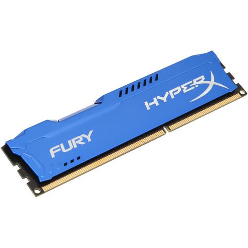 Kingston 4GB HyperX FURY DDR3 1600 MHz DIMM Memory Module (Blue)