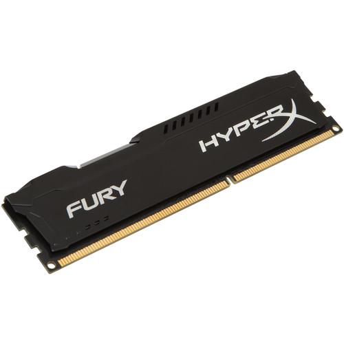 Kingston 8GB HyperX FURY DDR3 1600 MHz DIMM Memory Module (Black)