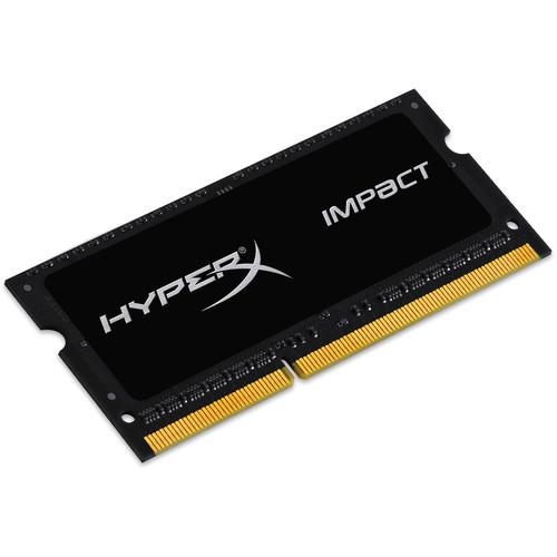 Kingston 8GB HyperX IMPACT DDR3L 1600 MHz SO-DIMM Memory Module (Black)