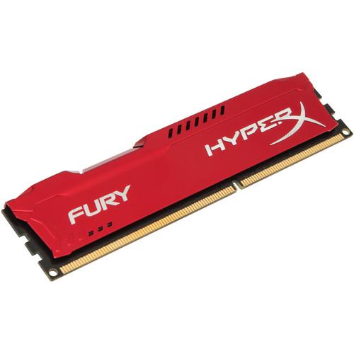 Kingston 8GB HyperX FURY DDR3 1866 MHz DIMM Memory Module (Red)