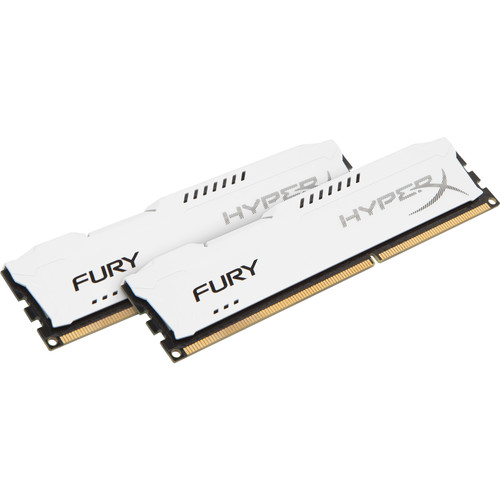 Kingston 16GB HyperX FURY DDR3 1866 MHz UDIMM Memory Kit (2 x 8GB, White)