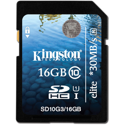 Kingston 16GB SDHC Elite Class 10 UHS-1 Memory Card