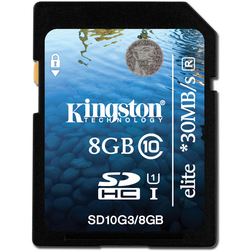 Kingston 8GB SDHC Elite Class 10 UHS-1 Memory Card
