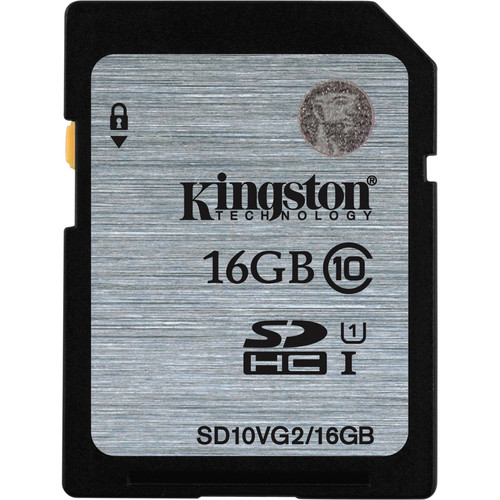 Kingston 16GB UHS-I SDHC Memory Card (Class 10)
