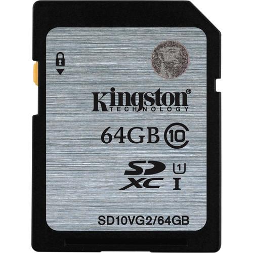 Kingston 64GB UHS-I SDXC Memory Card (Class 10)