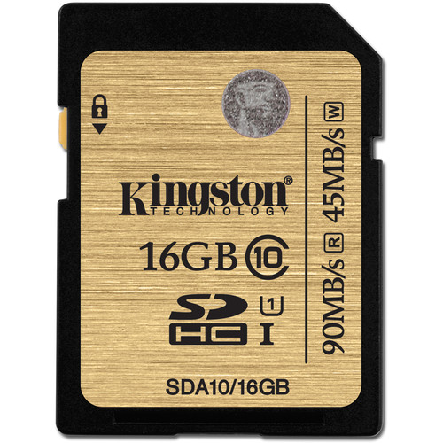 Kingston 16GB SDHC 300X Class 10 UHS-1 Memory Card