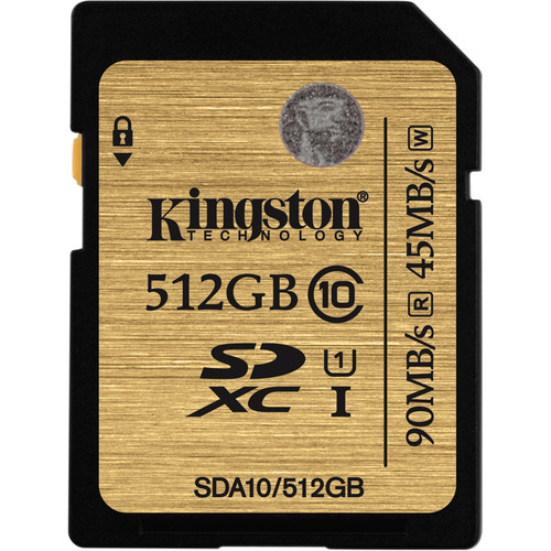 Kingston 512GB SDXC 300X Class 10 UHS-1 Memory Card
