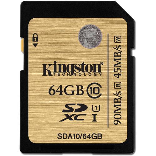 Kingston 64GB SDXC 300X Class 10 UHS-1 Memory Card