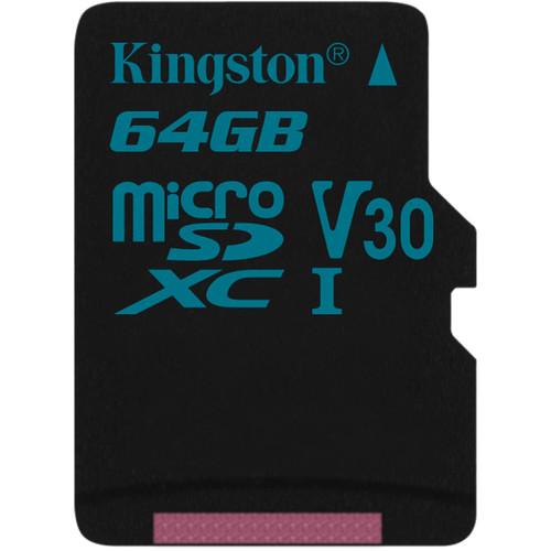 Kingston 64GB Canvas Go! UHS-I microSDXC Memory Card
