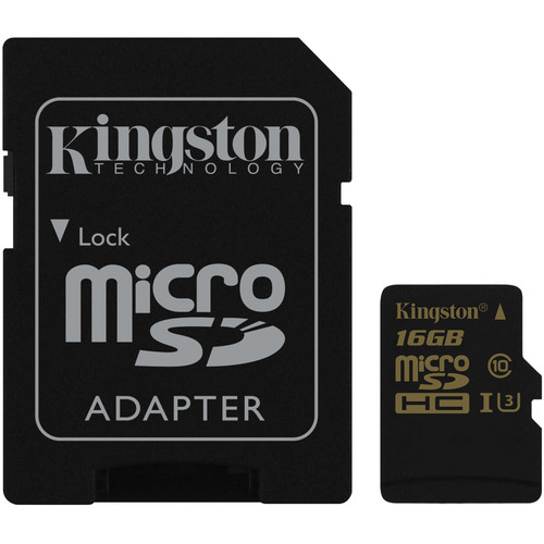 Kingston 16GB UHS-I U3 microSDHC Memory Card