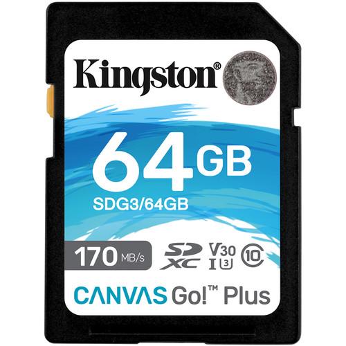 Kingston 64GB Canvas Go! Plus UHS-I SDXC Memory Card