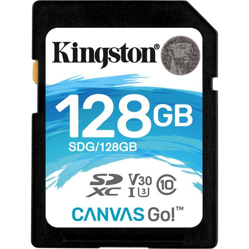 Kingston 128GB Canvas Go! UHS-I SDXC Memory Card