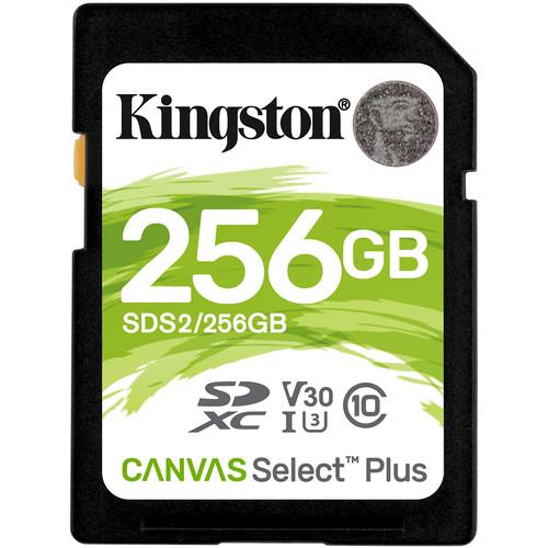 Kingston 256GB Canvas Select Plus UHS-I SDXC Memory Card