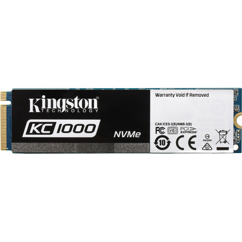Kingston 480GB KC1000 NVMe PCIe M.2 SSD with HHHL Add-In Card