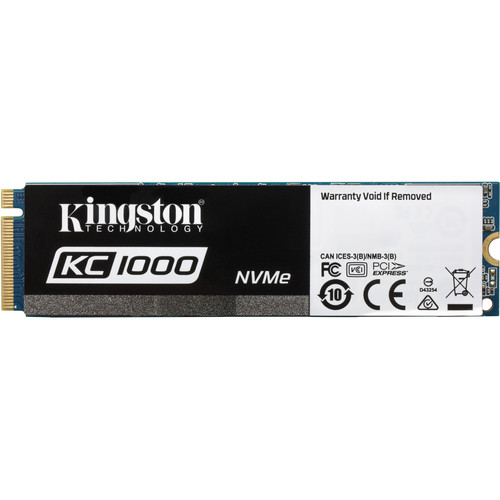 Kingston 960GB KC1000 NVMe PCIe M.2 SSD with HHHL Add-In Card