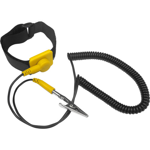 Kingwin Anti-Static Wrist Strap with Grounding Wire (5-Pack, ,<sp> </sp>Yellow/Black)